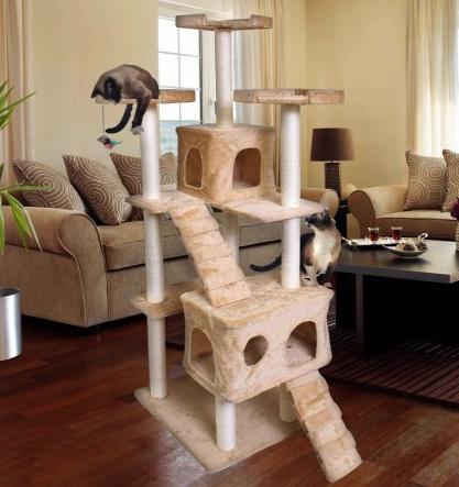 15 diy cat tree ideas save money today pawsome kitty for Diy cat tree